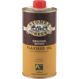 Photo of Stoney Creek Organic Flaxseed Oil