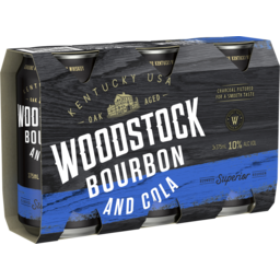 Photo of Woodstock Bourbon & Cola 10% 375ml 3 Pack