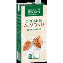 Photo of Australia's Own Organic Unsweetened Almond Milk 1L