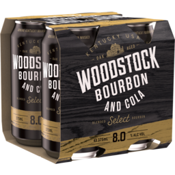 Photo of Woodstock Bourbon & Cola 8.0% Cans