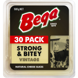 Photo of Bega Strong & Bitey Vintage Natural Cheese Slices 500g