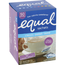 Photo of Equal Low Calorie Sweetener 50 Sachets 50g