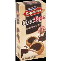 Photo of Mcvities Dark Chocolate Choc Tops Digestive Biscuits 200g