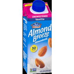 Photo of Blue Diamond Almonds Almond Breeze Almondmilk Unsweetened Vanilla