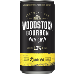 Photo of Woodstock Bourbon & Cola Reserve 12% 200ml