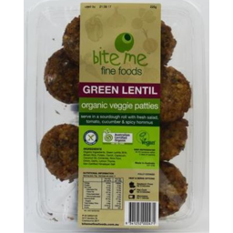 Photo of Bite Me Organic Green Lentil Patties 225gm