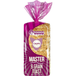 Photo of Cripps Master Loaf 9 Grain Toast Bread 680g
