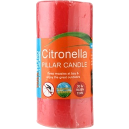 Photo of Waxworks Candle Citrionella Pillar 15cm 1pk