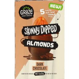 Photo of Graze Skinny Dipped Almonds Dark Chocolate 5 Pack X 22g