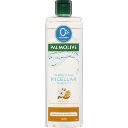 Photo of Palmolive Micellar Hair Shampoo Healthy Shine Natural Geranium & Orange Oil 0% Silicones 370ml