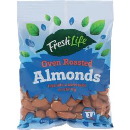 Photo of Fresh Life Almonds Oven Roasted 150g