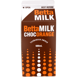 Photo of Betta Milk Choc Orange Carton 600ml