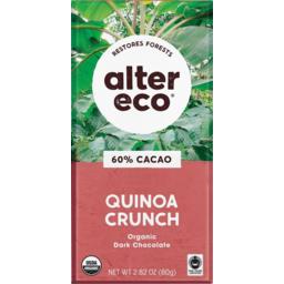 Photo of Alter Eco Chocolate Dark Quinoa 60% 80g