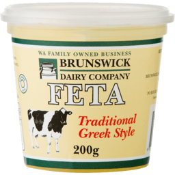 Photo of Brunswick Dairy Co Traditional Fetta Cheese (200g)