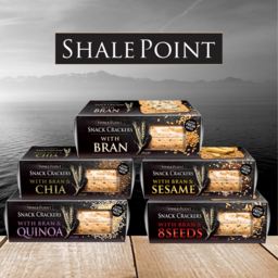 Photo of Shale Point Bran/Chia Crackers 124gm