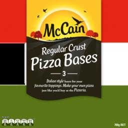 Photo of McCain Pizza Bases Regular Crust 3 Pack 700gm