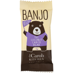 Photo of Banjo Vegan Carob Bear Coconut 15g