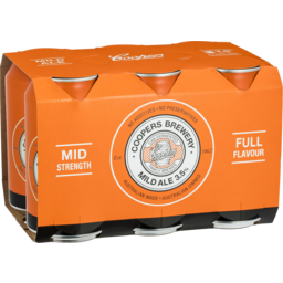 Photo of Coopers Mild Ale 3.5% Can 375ml 6 Pack