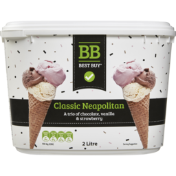 Photo of Best Buy Ice Cream Neapolitan 2l