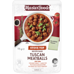 Photo of Masterfoods™ Tuscan Meatballs Stove Top Recipe Base 175g