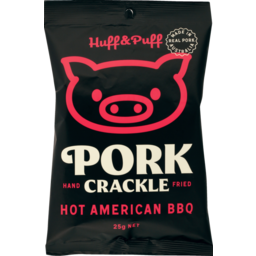 Photo of Huff & Puff Pork Crackle Hot American BBQ 25g