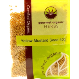 Photo of Gourmet Organic Herbs - Mustard Seeds (Yellow) - 40g