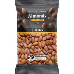 Photo of Drakes Almonds Dry Roasted 500g