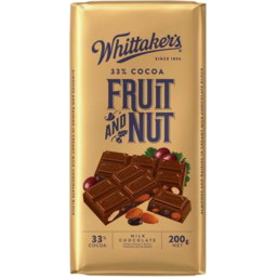 Photo of Whittaker's Fruit & Nut Block 200gm