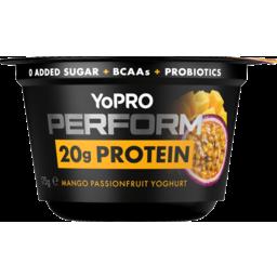 Photo of Danone Yopro Perform 20g Protein Mango Passionfruit Yoghurt 175g