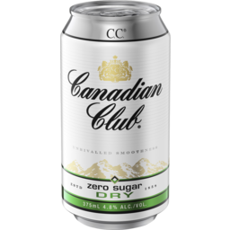 Photo of Canadian Club Zero Sugar Dry Can 375ml