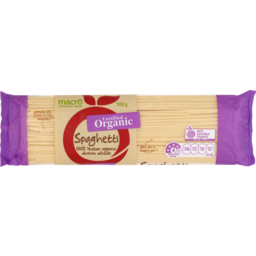 Photo of Macro Organic Spaghetti Pasta 500g