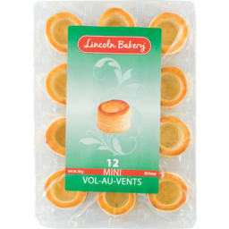 Photo of Lincoln Bakery Vol Au Vents Mini 12pk