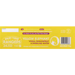 Photo of Part Time Rangers Yellow Elephant Can