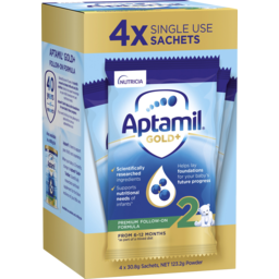 Photo of Aptamil Gold+ 2 Baby Follow-On Formula Powder Sachets From 6-12 Months 4 Pack 30.8g