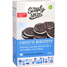 Photo of Simply Wize Choc'o Biscuits 250gm