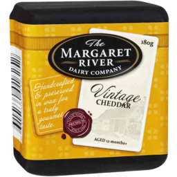 Photo of The Margaret River Dairy Company Vintage Cheddar 180g