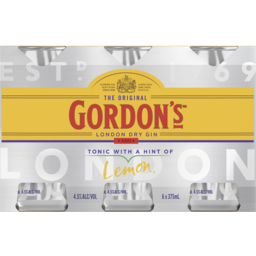 Photo of Gordons Gin & Tonic 4.5% 6*375ml