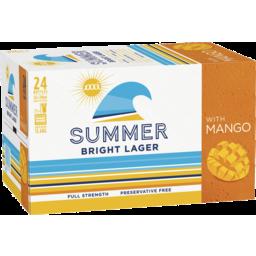 Photo of Xxxx Summer Bright Mango Xxxx Summer Bright Lager With Mango 24 X 330ml Bottle Carton