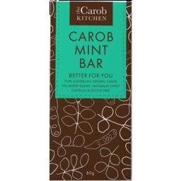 Photo of The Carob Kitchen Caffeine & Gluten Free Carob Mint Bar 80g