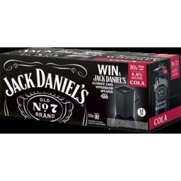 Photo of Jack Daniels & Cola 10 X 375ml