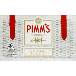 Photo of Pimm's No.1 Cup Lemonade & Ginger Ale Stubbies