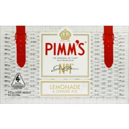 Photo of Pimm's No.1 Cup Lemonade & Ginger Ale Stubbies