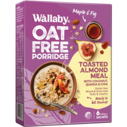 Photo of Wallaby Oat Free Porridge Maple & Fig 6 x 40g sachets