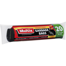 Photo of Multix Garbage Bag Draw Tight Roll 20 pack