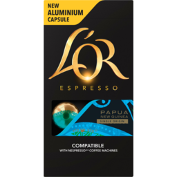 Photo of Lor Barista Espresso Papua New Guinea Single Origin Coffee Capsules 10 Pack 52g