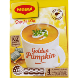 Photo of Maggi Soup For A Cup Golden Pumpkin 4 Pack