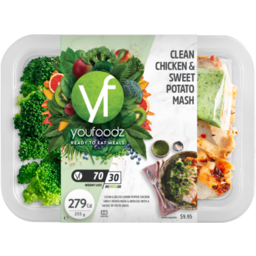 Photo of Youfoodz Clean Chicken & Sweet Potato Mash 255g