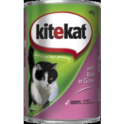 Photo of KiteKat Cat Food Beef In Gravy 410g
