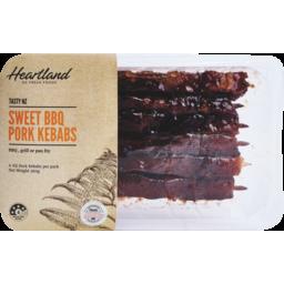 Photo of Heartland Sweet BBQ Pork Kebabs 360g