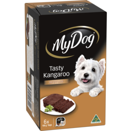 Photo of My Dog Adult Wet Dog Food Tasty Kangaroo Meaty Loaf 6x100g Trays